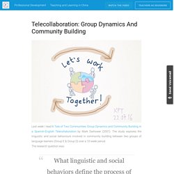 Telecollaboration: Group Dynamics and Community Building – Learn Experience Teach