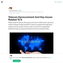 Telecom Eprocurement And Key Issues Related To It