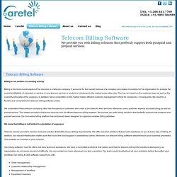 Telecom Billing Software & OSS Billing Systems for Telecom Companies