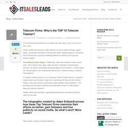 Telecom Firms: Who's the TOP 10 Telecom Tweeter?