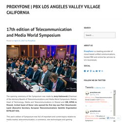 17th edition of Telecommunication and Media World Symposium