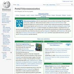 Portal:Telecommunication