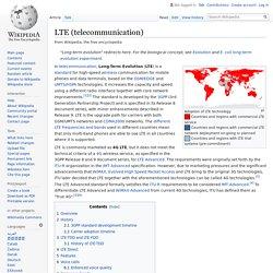 LTE (telecommunication) - Wikipedia