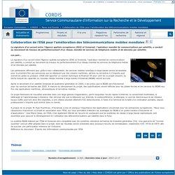 News and Events : Collaboration de l'ESA pour l'amélioration des télécommunications mobiles mondiales