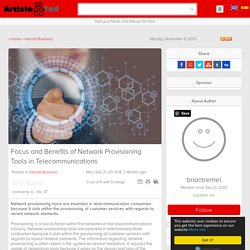 Focus and Benefits of Network Provisioning Tools in Telecommunications Article
