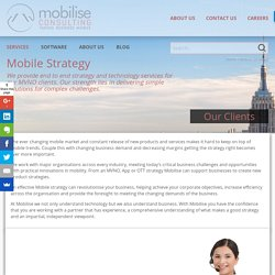 Mobile Virtual Network Operator Telecommunications Consulting