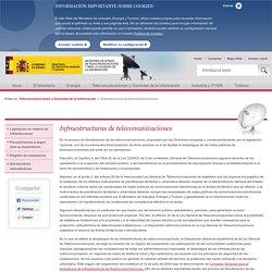 Infraestructuras de telecomunicaciones - Infraestructuras de telecomunicaciones - Telecomunicaciones y Sociedad de la Información