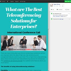 Best Conference Call Service From Reliance Mindbridge