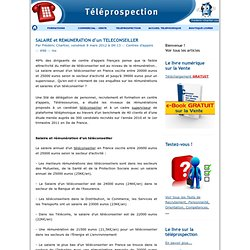 SALAIRE et REMUNERATION d'un TELECONSEILLER - TELEPROSPECTION