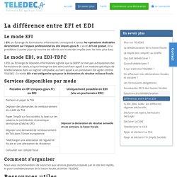 TELEDEC - La différence entre EFI et EDI
