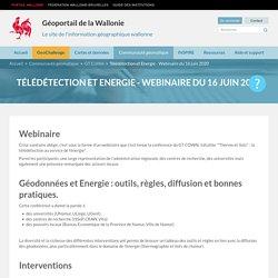 Télédétection et Energie - Webinaire du 16 juin 2020