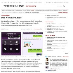Telefon-App Viber: Ihre Nummern, bitte
