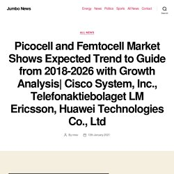 Picocell and Femtocell Market Shows Expected Trend to Guide from 2018-2026 with Growth Analysis