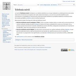 Telefonía móvil. Artículo de la Enciclopedia.