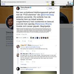 """Thierry Baudet on Twitter: """"Net een schokkend telefoongesprek gehad met de """"FVD-stemmer"""" die @EenVandaag gisteren opvoerde. Hij vertelde hoe de redactie hem op totaal andere vragen/thema's had voorbereid en bewust overviel met vijandig #fakenews #frame. V"""
