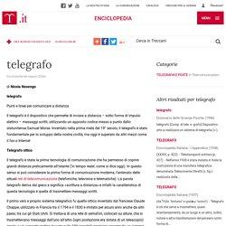 """Telegrafo in """"Enciclopedia dei ragazzi"""""""