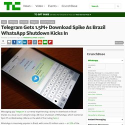 Telegram Gets 1.5M+ Download Spike As Brazil WhatsApp Shutdown Kicks In