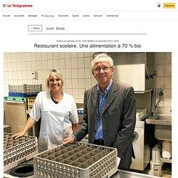 LE TELEGRAMME 02/09/18 Bénodet - Restaurant scolaire. Une alimentation à 70 % bio