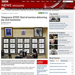 Telegrams STOP: End of service delivering joy and heartache