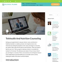 Telehealth And Nutrition Counseling