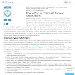 How to Plan for Telehealth for Your Organization?