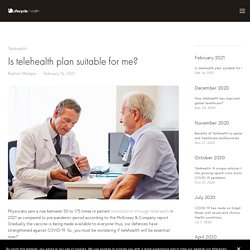 Is telehealth plan suitable for me? — Lifecycle Health