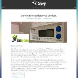 La téléinformation sous Jeedom. - KZ Enjoy