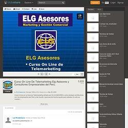 Curso On Line De Telemarketing Elg Asesores y Consultores Empresari...