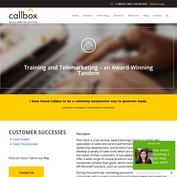 Training and Telemarketing – an Award-Winning Tandem - B2B Lead Generation Company Malaysia