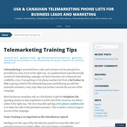 USA & Canadian Telemarketing Phone Lists for Business Leads And Marketing