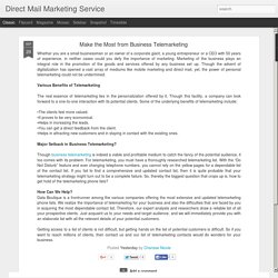 Direct Mail Marketing Service: Make the Most from Business Telemarketing