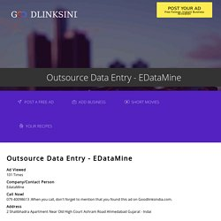 Outsource Data Entry - EDataMine - data entry expert, graphic design services, web research services, research data management, telemarketing services, customer service outsourcing, inbound outbound telemarketing services