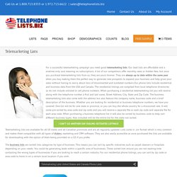 Buy Updated Telemarketing List - Telephonelists.biz