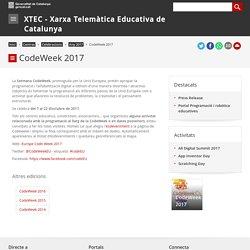 CodeWeek 2017. XTEC - Xarxa Telemàtica Educativa de Catalunya