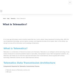 What is Telematics? Technology guide on Vehicle Telematics