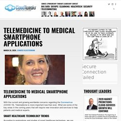 Telemedicine to medical smartphone applications