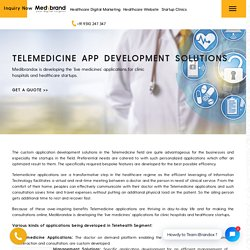 Telemedicine App Development Solutions - Medibrandox