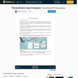Telemedicine App Company PowerPoint Presentation, free download - ID:9955958