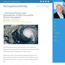 Hurricane Florence and Telemedicine, A Tale of Successful 18-hour Emergency