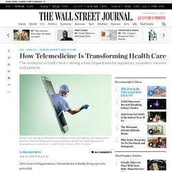 How Telemedicine Is Transforming Health Care