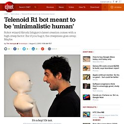 Telenoid R1 bot meant to be 'minimalistic human'