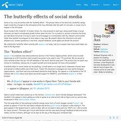 Telenor Digital - The butterfly effects of social media