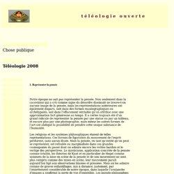 Téléologie 2008