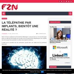 La télépathie par implants, bientôt une réalité ?