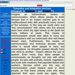 Telepathy and telepathic devices (in English)