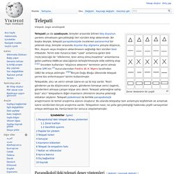 Telepati - Vikipedi