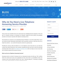 Live Telephone Answering Service Provider