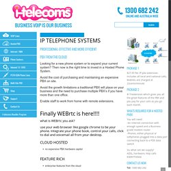 Hosted PBX Phone System, IP Telephone System, Virtual and Cloud PBX Australia