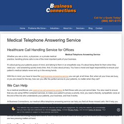 Hire Professional Medical Telephone Answering Service