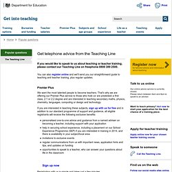 Get telephone advice from the Teaching Line